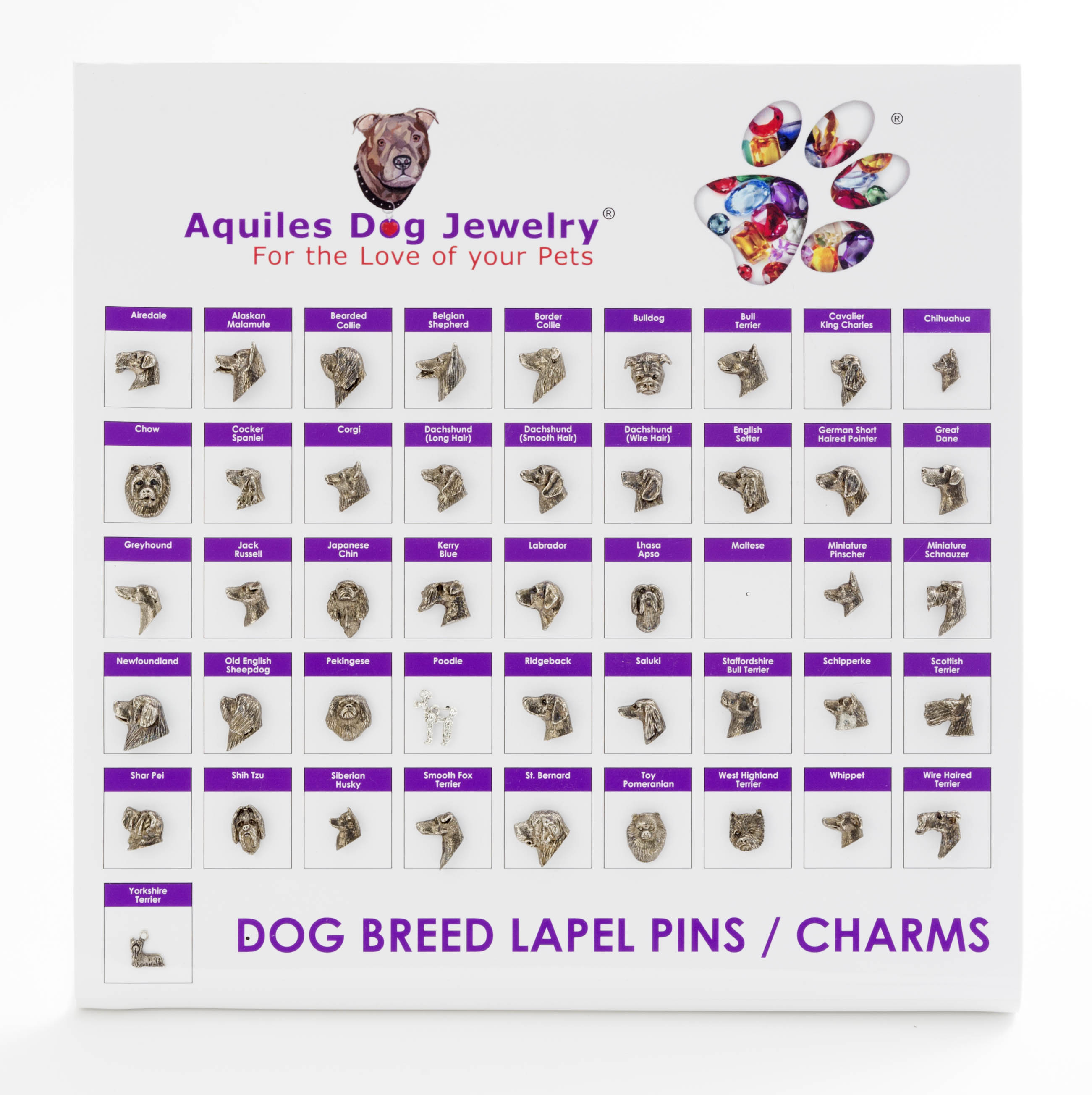 Dog Breed Charms